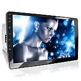 XOMAX XM-2V1004 Autoradio mit verstellbarem XXL Touchscreen Bildschirm (10' / 25 cm) I Mirrorlink I...