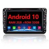 AWESAFE Android 10 Autoradio für VW Skoda Seat, 2 DIN 8 Zoll Touchscreen DAB+ unterstützung WLAN...