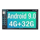 PUMPKIN Android 9.0 Autoradio Radio mit Navi und DVD Player 4GB / 8 Core Unterstützt Bluetooth DAB...