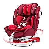 LETTAS Kindersitz 360° Drehbar ISOFIX Top Tether Gruppe 0+1/2/3 (0-36kg) Seitenschutz Baby Autositz...