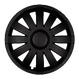 Autoteppich Stylers 14 Zoll Radkappen AGAT Schwarz matt (Farbe und Größe wählbar!)
