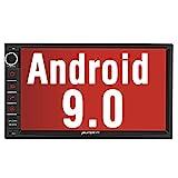 PUMPKIN Android 9.0 Autoradio Radio mit GPS Navi Unterstützt Bluetooth DAB + USB Android Auto WiFi...