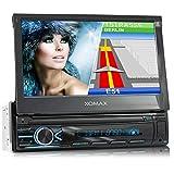 XOMAX XM-VN745 Autoradio mit Mirrorlink I GPS Navigation I Bluetooth I 7' / 18 cm Touchscreen...