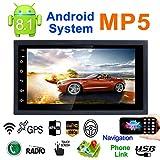 Android 8.1 Autoradio Stereo mit Dual Bluetooth - Standard, Universal DC12V Ultradünn ultraleichtes...