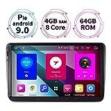 9 Zoll 4GB RAM+64GB ROM 8-Core Android 9.0 Autoradio für VW Passat B6 Touran Polo Golf V VI Skoda...