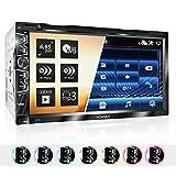 XOMAX XM-2D6907 Autoradio mit Mirrorlink für Android I kapazitiver 6,9' / 17,5 cm Touchscreen...