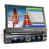 XOMAX XM-DN763 Autoradio mit Mirrorlink, GPS Navigation, Navi Software, Bluetooth...