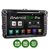 XOMAX XM-11GA Autoradio passend für VW, SEAT, Skoda mit Android 9.0 I 8 Zoll / 20,3 cm Touchscreen...