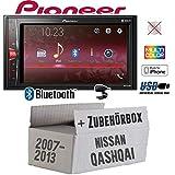 Autoradio Radio Pioneer MVH-A210BT - 2-DIN Bluetooth   MP3   USB   - Einbauzubehör - Einbauset für...