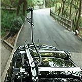 Dach-Fahrradträger für 1 Fahrräder, Nutzlast 70KG, Aluminiumlegierung, Zusammenklappbar für Auto...