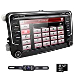 7 Inch Double DIN Bluetooth FM Full Map 3G Car Radio Sat Nav DVD GPS Radio RDS for VW Passat Golf 5...