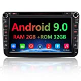 AWESAFE Android 9.0 Autoradio für VW Skoda Seat, 2 DIN 8 Zoll Touchscreen DAB+ unterstützung WLAN...