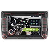 7' 2-Tuner Android 10.0 DVD GPS 2+32GB Android Auto+Carplay BT 5.0 DSP Autoradio Navigation für VW...