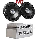 Lautsprecher Boxen JVC CS-J610X - 16cm Auto Einbauzubehör 300Watt Koaxe KFZ PKW Paar - Einbauset...