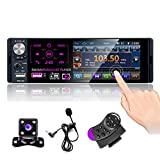 CAMECHO Bluetooth-Autoradio 4'Kapazitiver Touchscreen Einzel-DIN-Autoradio FM/AM/RDS-Radioempfänger...