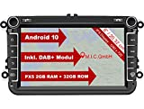 M.I.C. AV8V6-lite Android 10 Autoradio Radio Navigationssystem:DAB+ digitalradio Bluetooth 5.0 WLAN...