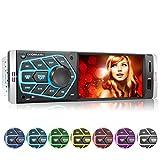 XOMAX XM-V418 Autoradio mit 4.1' / 10 cm Bildschirm I Bluetooth Freisprecheinrichtung | USB, SD, AUX...