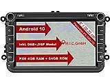 M.I.C. AV8V6 Android 10 Autoradio mit navi Ersatz für VW Golf t5 touran Passat RNS RCD Skoda SEAT:...