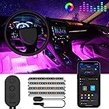 Govee Auto LED Innenbeleuchtung, RGB Auto Innenraumbeleuchtung mit APP, Wasserdichte Mehrfarbiger...