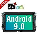 PUMPKIN Android 9.0 Autoradio für VW Radio mit Navi 16GB Europakarten/Integriertes DAB + Modul...