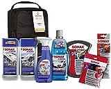 SONAX XTREME Autopflege Set inkl. Tasche (8-teilig); Autoreinigungs- und Pflegeset für den...