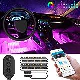 Auto LED Innenbeleuchtung, Govee RGB Auto Innenraumbeleuchtung mit APP, Wasserdichte Mehrfarbiger...
