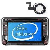 Built-in DAB+ Autolink Autoradio mit Navigation 7' 2DIN Auto DVD Player Stereo für VW Passat B6...