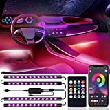 Bewahly Auto LED Innenbeleuchtung, USB Auto Innenraumbeleuchtung Ambientebeleuchtung, RGB Musik LED...