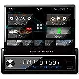Tristan Auron BT1D7027A Android 10 Autoradio I 7'' Touchscreen ausfahrbar I GPS Navi 32GB Bluetooth...