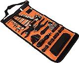 Black+Decker Rolltasche (mit Autowerkzeugzubehör, Taschenlampe, Schrauberklingen, Bits,...
