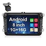 Android Autoradio für VW GPS Navigation, 20,3 cm (8 Zoll) kapazitiver Touchscreen,...