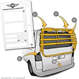 Lackschutzshop Lackschutz-Folie für Fahrrad-Heckträger von VW T5 Multivan, Caravelle Baujahr 2003...