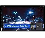 Tristan Auron BT2D7018A-DVD Android 9.0 Autoradio mit Navi + DAB+ Box OBD2 Adapter I 7'' Touchscreen...