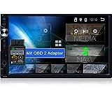 Tristan Auron BT2D7025A Android 10.0 Autoradio + OBD 2-7' Touchscreen I mit Navi GPS Bluetooth...