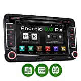 XOMAX XM-10GA Autoradio mit Android 9.0 passend für VW SEAT Skoda, 2GB RAM, 32GB ROM, GPS...