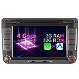 7' 2-Tuner Android 10.0 DVD GPS 2+32GB Android Auto+Carplay BT 5.0 DSP Autoradio Navigation für VW...
