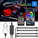 LED Innenbeleuchtung Auto, Clydek Innenraumbeleuchtung Auto, 48 LED Mehrfarbige Ambientebeleuchtung,...