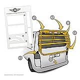 Lackschutzfolie passend für Heckträger VW T6 Multivan, Caravelle ab Bj 2015 - selbstklebende,...