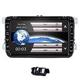 8 Zoll 2 Din Autoradio Passt für Kompatibel mit Golf Skoda Seat Wince System DVD Player GPS...