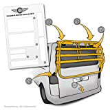 Lackschutzpads passend für original Fahrradträger vom Hersteller (VW T5 Multivan, Caravelle)...