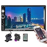 Hikity 2 Din Autoradio 7 Zoll Touchscreen Radio Bluetooth FM Empfänger Unterstützung Spiegel Link...