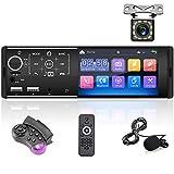 Bluetooth Autoradio, 1 Din-Autoradio mit 4,3-Zoll-HD-Touchscreen, Autoradio-Unterstützung für...