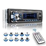 Autoradio mit Bluetooth Freisprecheinrichtung, 1 Din Universal Autoradio Eingebautes Mikrofon, 4X60W...
