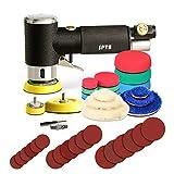 Mini poliermaschine, Druckluft Polierer, SPTA 25mm 50mm 80mm Exzenter schleifer Winkelschleifer mit...