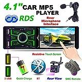 Hoidokly 4,1 Zoll 1DIN Bluetooth Autoradio mit 1080P Touchscreen, MP5-Player, FM/AM/RDS Radio,...