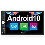 Vanku Android 10 Autoradio mit Navi PX6 System 64GB+4GB Unterstützt Qualcomm Bluetooth 5.0 DAB +...