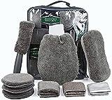 SunTop Auto Autopflege Reinigung Set 9, Autowaschhandschuh Mikrofaser zur Autoreinigung, Wachs-Tuch...