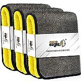 EASY EAGLE 3X Mikrofasertücher 1200GSM zur Professionellen Autopflege, Ultraweich für Perfekte...
