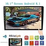 10,1 Zoll 2,5 D HD Doppel-Din-Autoradioempfänger, Android 8,1 Touchscreen MP5 Multimedia,...