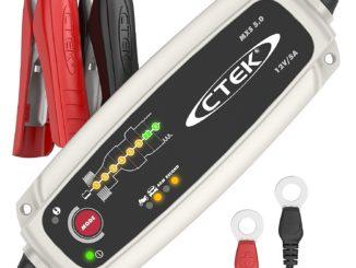 CTEK MXS 5.0 Vollautomatisches Ladegerät (Optimale Ladung, Unterhaltung Ladung und Instandsetzung von Auto- und Motorradbatterien) 12V, 5 Amp. – EU Stecker